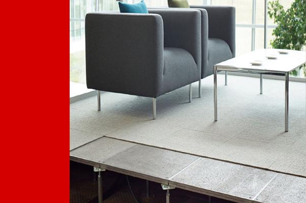 防静电架空地板楼面施工方法